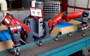 rethink robotics, baxter, material handling