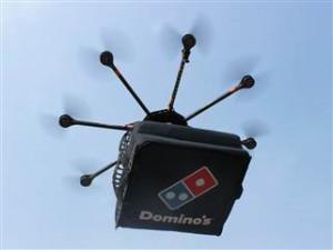 domino's pizza, drone