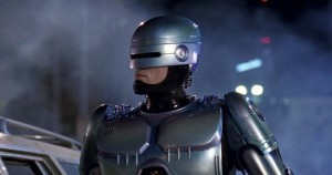 Robocop, the part human, part machine police officer of the film