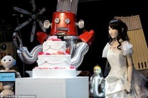 robot wedding, pepper, frois, yukirin