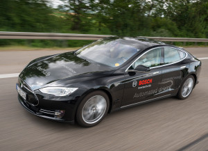 bosch tesla automated driving test car