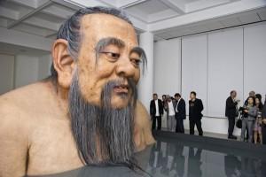 giant robot confucius, artist zhang huan