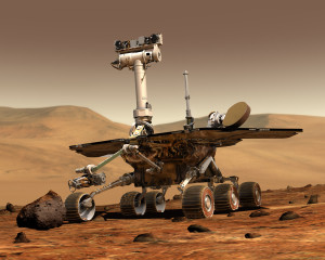 nasa mars rover with mastcam camera system