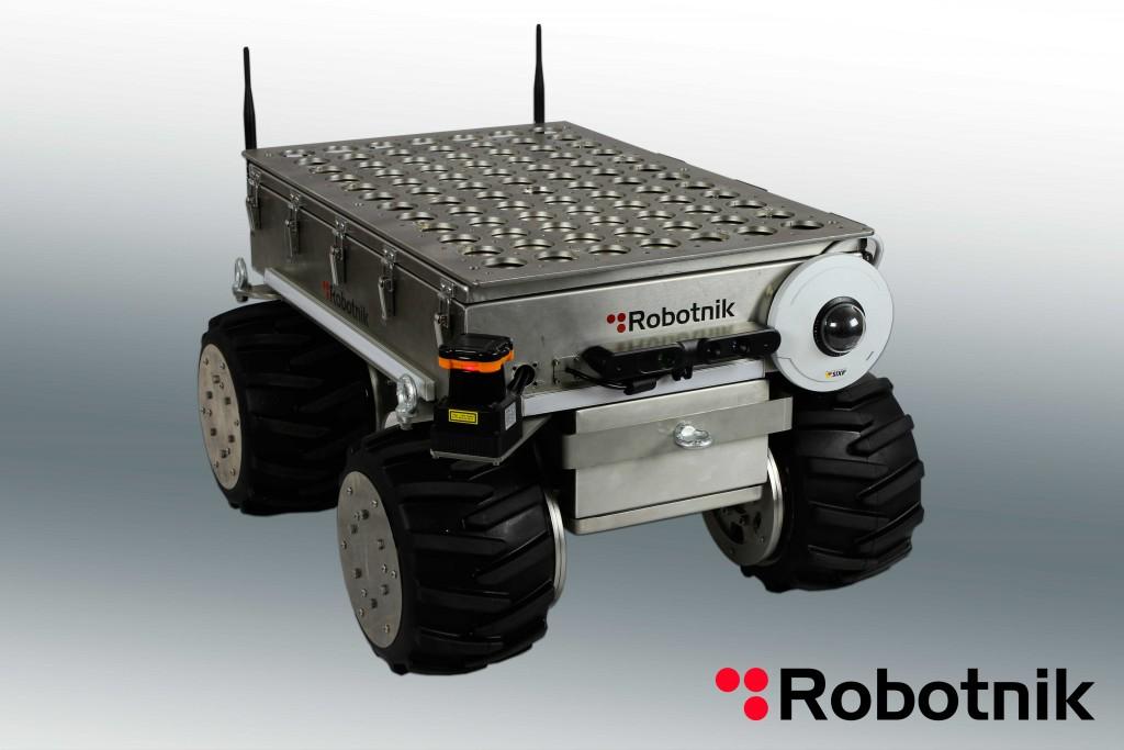 The Robotnik Steel Summit XL mobile robotic vehicle