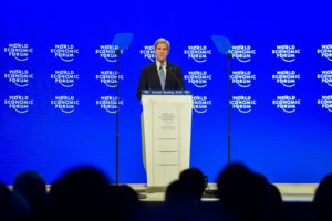 US Secretary of State John Kerry, delivering the keynote speech at the World Economic Forum