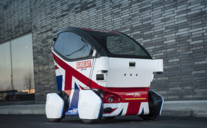 Driverless car in Milton Keynes, UK