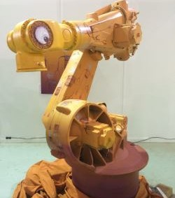 Kuka robot as art exhibit