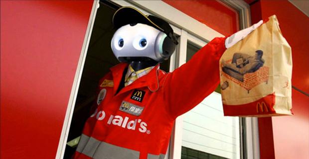 mcdonalds, fast food, robots