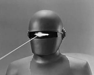 Gort the giant, laser-firing robot from the sci-fi classic The Day the Earth Stood Still