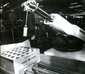 First industrial robot, General Motors assembly line, 1961
