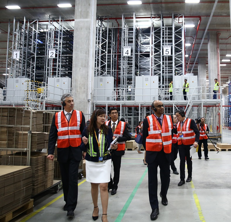 DHL opens supersize logistics centre featuring 130 robotic shuttles