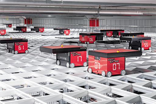PAS autonomous robots in a logistics wareouse