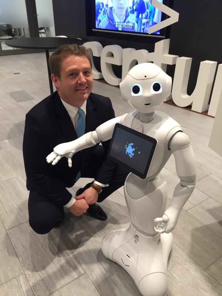 Accenture's Peter Lacy with Pepper the robot