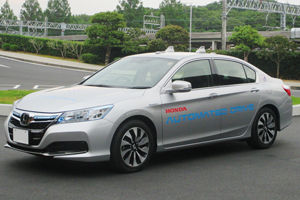 Honda presents autonomous car tech at G7 Summit