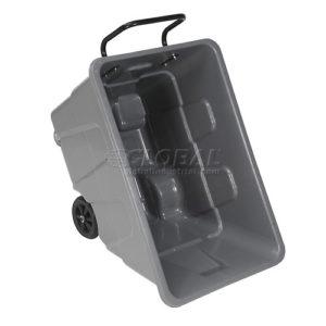 Deluxe Gray Plastic Tilt Truck 1/2 Cubic Yard Capacity 750 Lb. Capacity