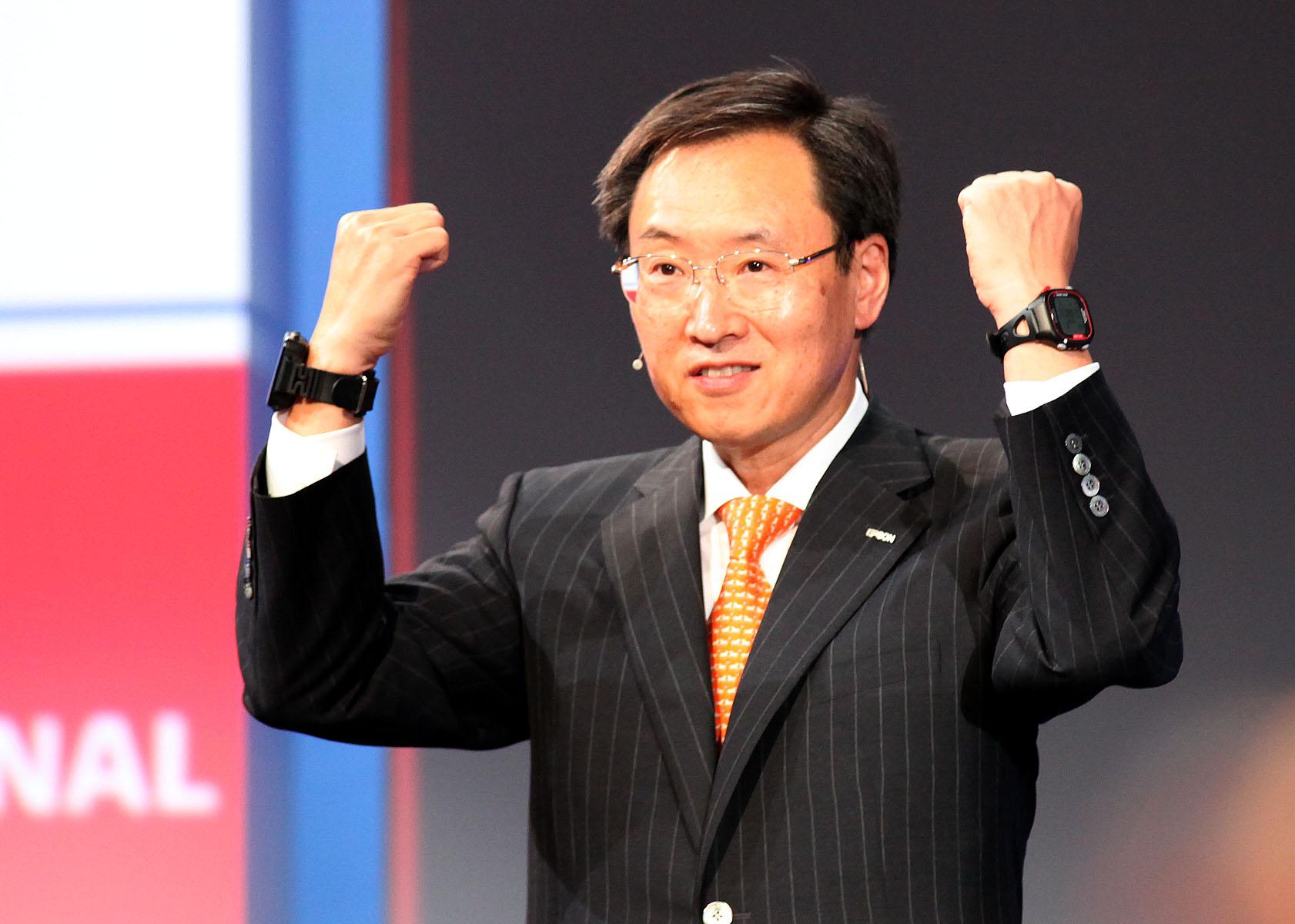 Minoru Usui, president, Seiko Epson