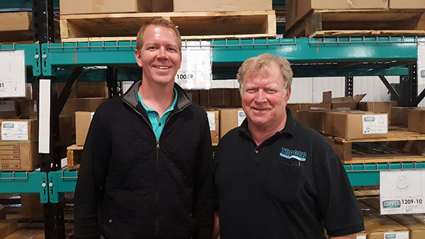 Ryan Brown (President) & Ed Brown (Founder and Father of the Fork Truck Free Movement in North America) Topper Industrial