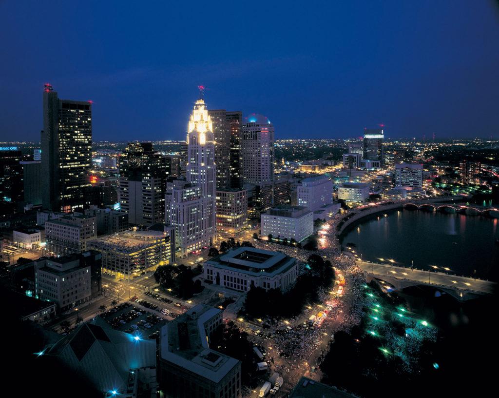 nxp smart cities - columbus at night