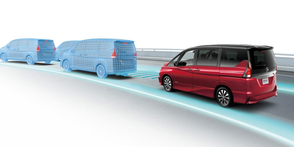 The Nissan Serena, with ProPilot autonomous technology