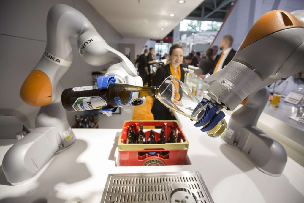 kuka robots having a drink