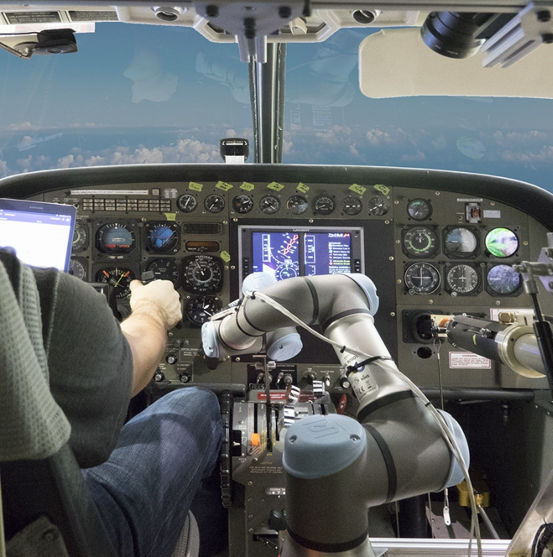 Aurora's Aircrew Labor In-Cockpit Automation System (Alias) program, robot co-pilot