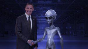 obama meets alien