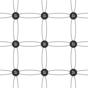 A simple diagram of a silicon crystal grid