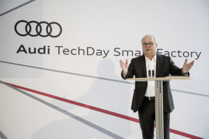 Audi head of production and logistics Prof Hubert Waltl
