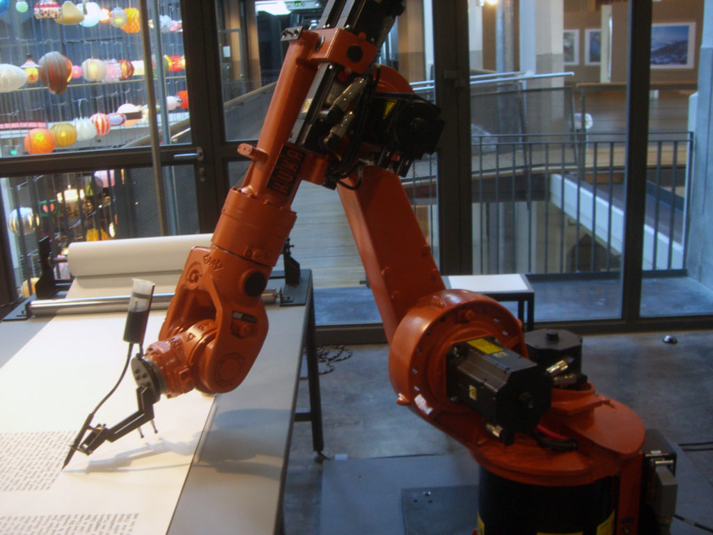 kuka writing robot