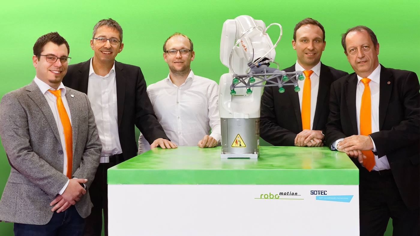 Robomotion and Sotec demonstrate cloud-connected Kuka industrial robot work cell