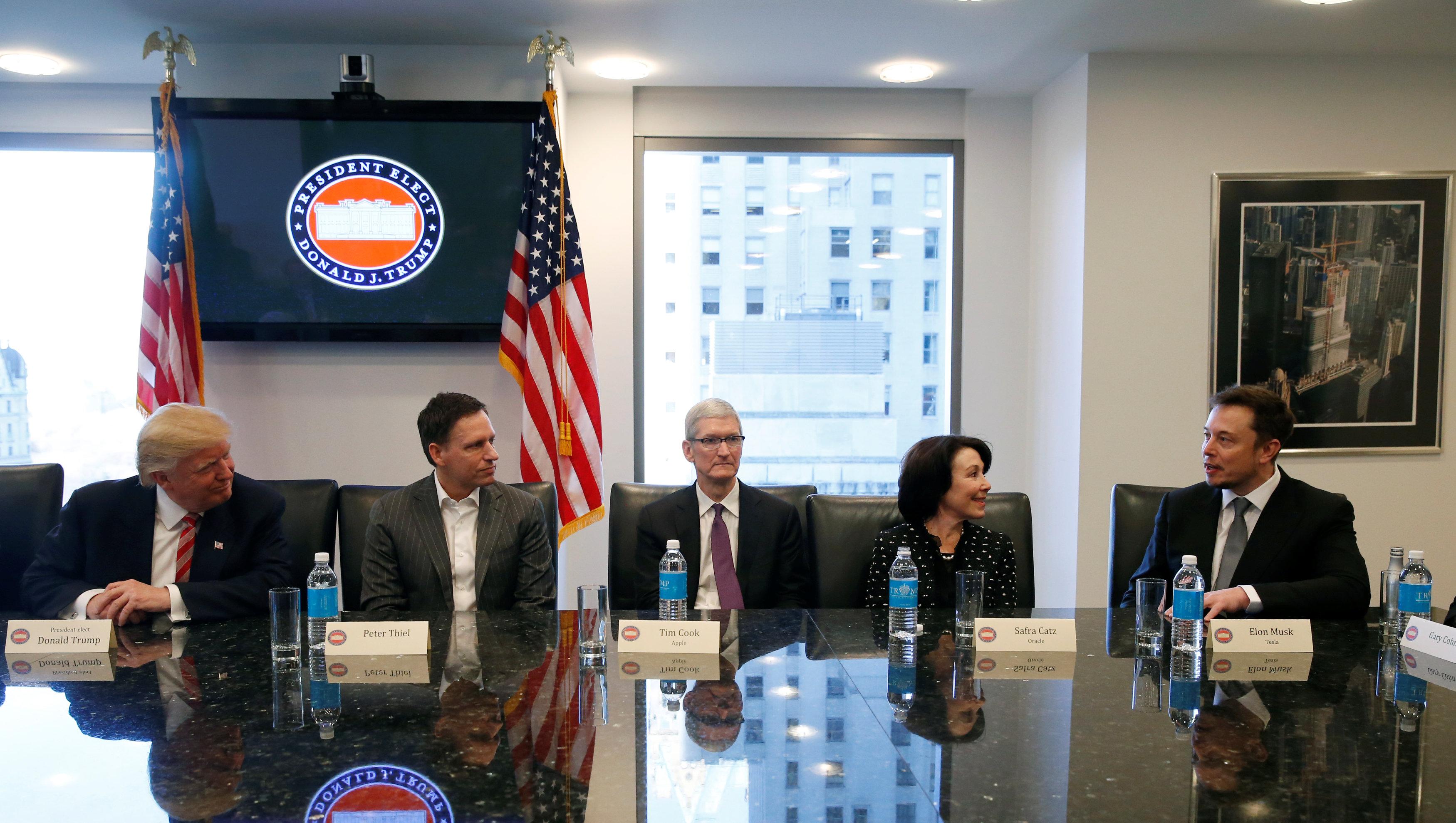 trump meets tech leaders