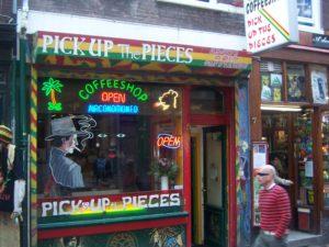 coffee shop in Amsterdam, Holland