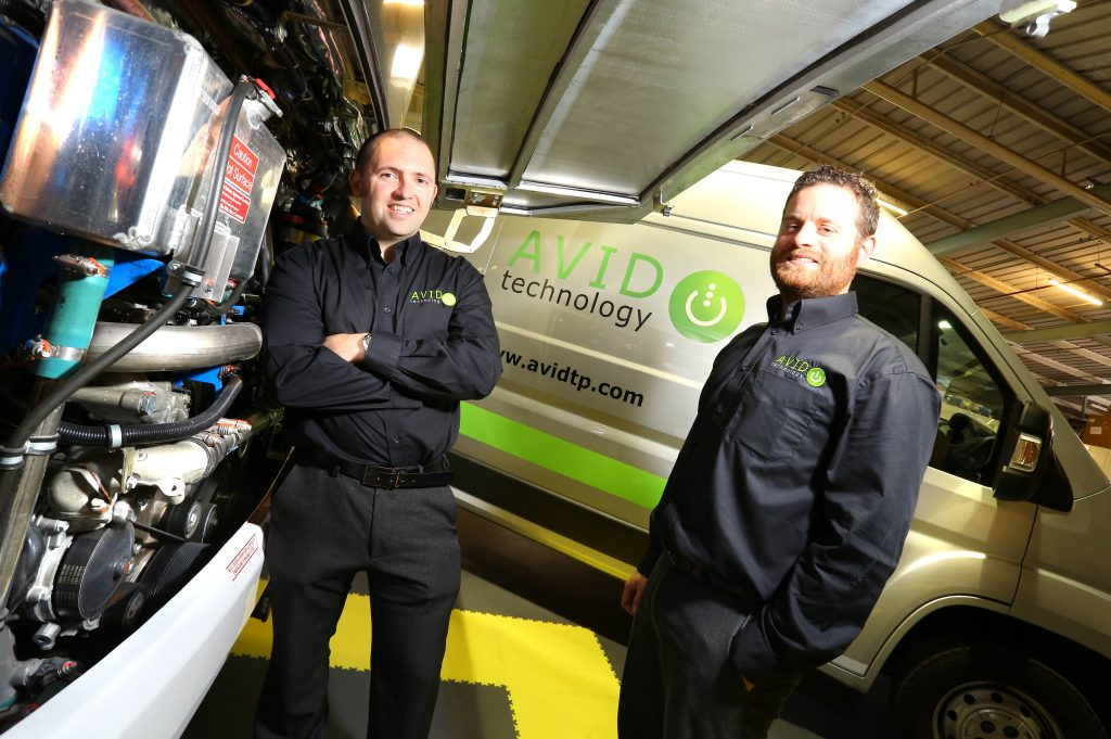 Giles Johnston (left), Avid business improvement consultant, with Avid managing director, Ryan Maughan
