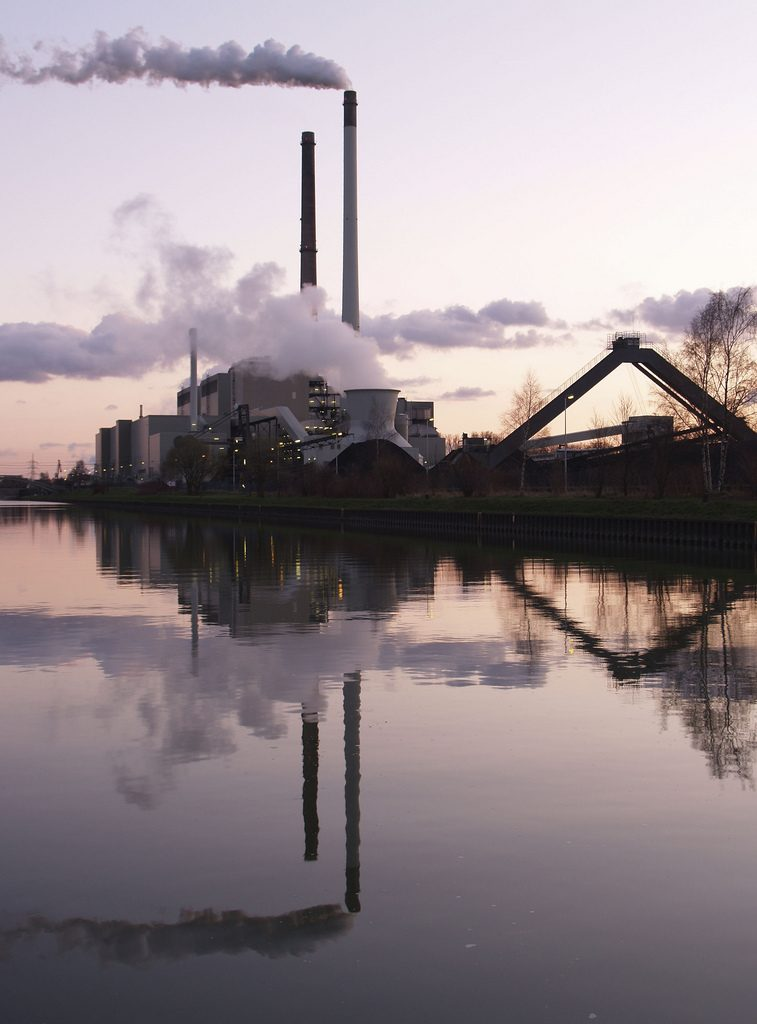 A coal power plant in Datteln, Germany
