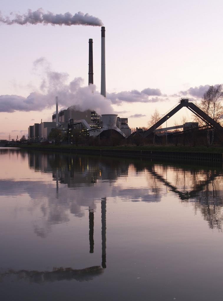 A coal power plant in Datteln, Germany
