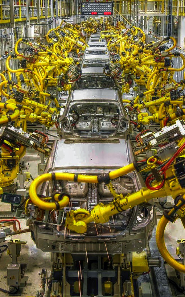 industrial robots car assembly line
