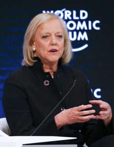 Meg Whitman, CEO of Hewlett Packard Enterprise, at the World Economic Forum. Picture: Reuters / Ruben Sprich