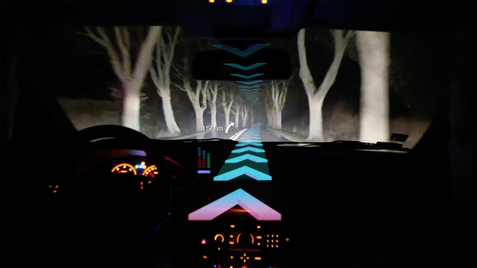 panasonic augmented reality car tech