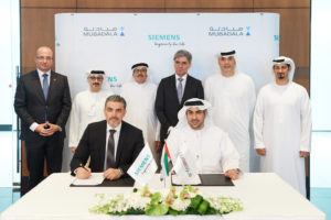 Siemens, Strata and Etihad executives sign the agreement