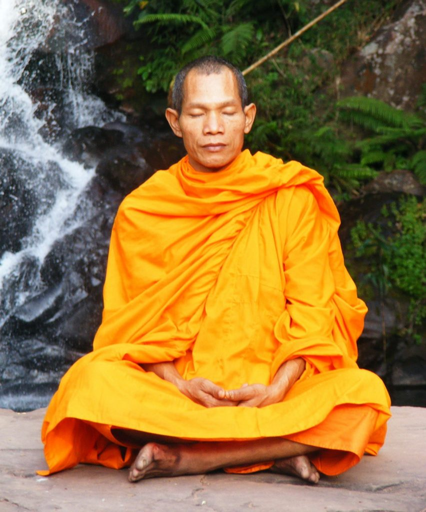 sleeping buddhist monk
