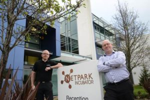 Steve Flowers and Glen Aitchison at NetPark