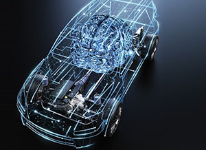 zf car wireframe