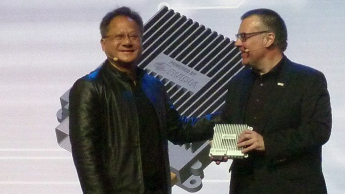 Huang with Bosch's Jensen Dirk