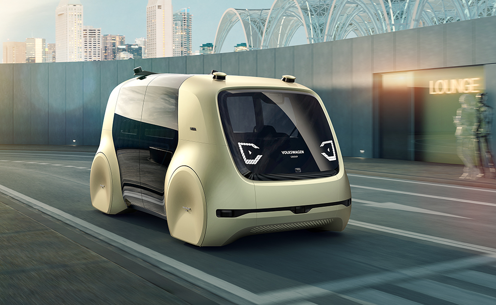 Volkswagen's new concept autonomous and electric car, Sedric