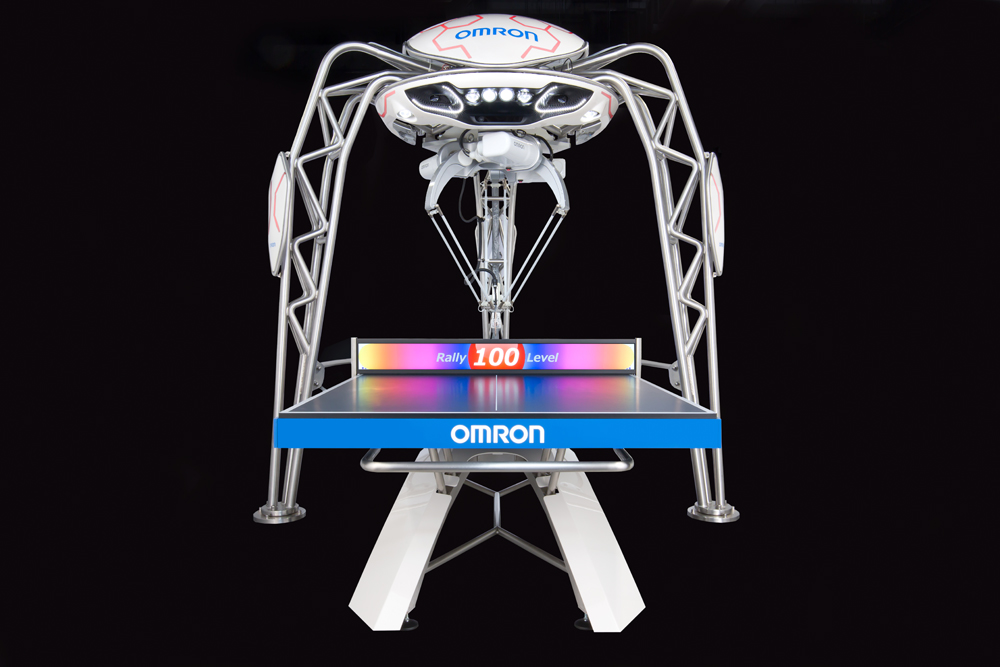 omron table tennis playing robot