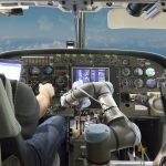 Robotic co-pilot autonomously flies and lands a simulated Boeing 737