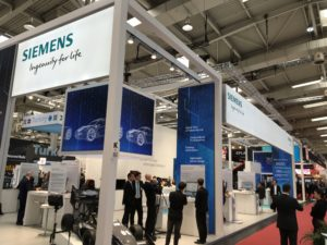 Siemens stand at Hannover Messe