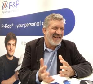 Dr Hansruedi Früh, founder and managing director of F&P Robotics