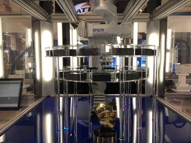 Epson showcases new Flexion industrial robot and printer built using SCARA robot