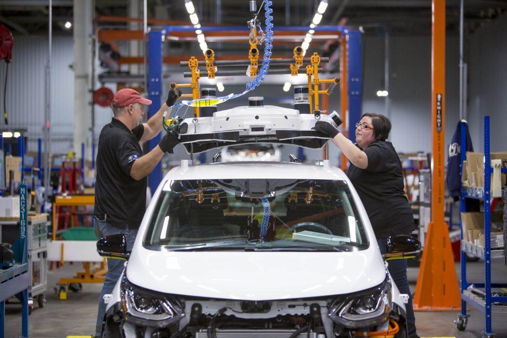 Chevrolet Bolt EV autonomous test vehicles are assembled at GM